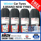 New 155 65 14 RIKEN WINTER SNOW TIME WINTER TYRES 155/65R14 1556514 (2,4 TYRES)