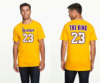 """LeBron James """"The King"""" -  Los Angeles Lakers #23 NBA Men's Graphic T on eBay"""