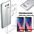 For LG V30/ Plus Ultra Thin Clear Slim TPU Shockproof Hard Protective Case Cover