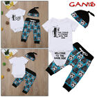 Newborn Infant Baby Boy Girl Star Wars Tops Romper Pants Hat Outfits Set Clothes $13.59 USD on eBay