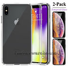 For Apple iPhone XS/Max/XR/X/8/7/Plus Transparent Clear Shockproof Bumper Case