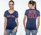 Mookie Betts Boston Red Sox MLB  #50 Jersey Style Women's Graphic T Shirt on Ebay