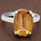 Natural Golden Citrine 925 Sterling Silver Ring Jewelry Size 6-9 DGR6001_C