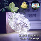 100/200 LED Solar String Fairy Light Garden Xmas Outdoor Party Decoration Lamps