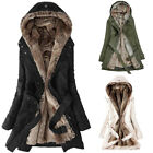 Fashion Ladies Fur Lining Coat Womens Winter Warm Thick Long Jacket Hooded Parka