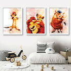 Set of 3 Original LION KING watercolour Art Prints Pictures Posters Timon Pumbaa