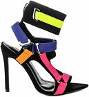 Внешний вид - Cape Robbin Dive In Multi Neoprene Strappy Colorful High Heel Single Sole Sandal