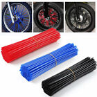 72PCS Wheel Spoke Wraps Motorcycle Cover Pipe Skins For Kawasaki Suzuki US Stock