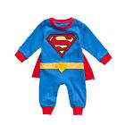 Toddler Baby Boys Romper Superhero Costume Outfit Tracksuit Playsuit Fancy Dress