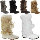 Talia-Hi Women Mukluk Faux Fur Boots Booties Mid Calf Winter Snow Warm Trendy