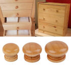 Lot Wooden Drawer Knobs Furniture Cabinet Door Round Head Pull Handle Accessory