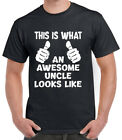 This Is What An AWESOME UNCLE Looks Like Mens Funny T-Shirt Gift Birthday