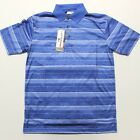 Men's Grand Slam On Course Striped Golf Polo Shirt (GSKS80P0) Marina Blue
