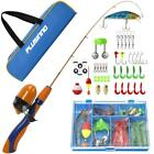 PLUSINNO Kids Fishing Pole,Portable Telescopic Rod and Reel Full Kits,...