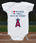 Los Angeles Angels Onesie Love Watching With Mommy Shirt Bodysuit on Ebay