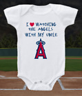 Los Angeles Angels Onesie Love Watching With My Uncle Shirt Bodysuit on Ebay