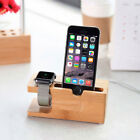 For Apple Watch Bamboo Wood Charging Dock,Cradle Holder for iPhone Series/Tablet