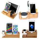 For Apple Watch Bamboo Wood Charging Dock,Cradle Holder for iPhone...