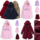NEW Women Causal Pockets Casual Hoodies Blouse Solid Coat Outwear Cloak Outcoat