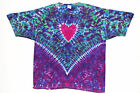 Adult TIE DYE Heart V art T Shirt 5X 6X hippie love grateful dead plus size