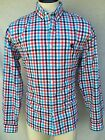Express Button Down Shirt Mens - Large - Blue/Red/White - Regular Fit - NWT $49