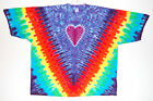 Adult TIE DYE Rainbow V Heart art T Shirt 5X 6X grateful dead art love plus size