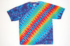 Adult TIE DYE Rainbow DNA / T Shirt hippie 5X 6X art grateful dead tye die