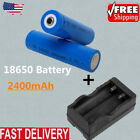 4X Blue 18650 2400mAh 3.7V 3.7volt LI-ION Rechargeable Battery for UltraFire LC