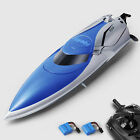 Kids/Adults Toys Electric Racing Boat Radio Control 2.4G RC Boats + 2 Batteries