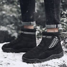 Mens High Top Velvet Lined Warm Thicken Outdoor Climbing Hiking Shoes Snow Boots