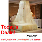 US Elegant Lace Bed Mosquito Netting Mesh Canopy Princess Round Dome Bedding Net