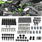 Fit Kawasaki Yamaha Suzuki Complete Fairing Bolts Kit Bodywork Screws Clip Nuts $11.99 USD on eBay