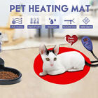 30cm Bite-resistant Pet Heating Pad Electric Warmer Mat Dog Cat Blanket Soft