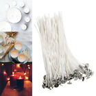 Внешний вид - 100pc Candle Wicks Cotton Core Pre Waxed With Sustainers For Candle Making 8""