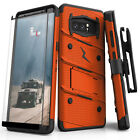 Samsung Galaxy Note 8 ZIZO Bolt Series Case with Tempered Glass Screen Protector