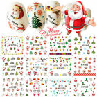 Christmas Thanksgiving Nail Art Stickers Snowflakes Snowmen Water Decals Decor