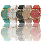 Fashion Women Lady Beauty Watches Geneva Faux Leather Analog Quartz Wrist Watch image