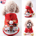 Pet Dog Cat Puppy Santa Outfits Christmas Clothes Costumes Coat Vest Apparel