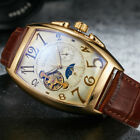 Men's Luxury Automatic Mechanical Stainless Steel Leather Wrist Watch Gift Box image