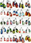 High Quality Country Flag MINI BOXING GLOVES - Rear View Mirror Gloves - New