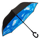 1 x Windproof Double Layer Upside Down Inverted Umbrella C-handle Reverse-Design