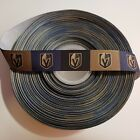 "7/8"" Vegas Golden Knights Block Grosgrain Ribbon by the Yard (USA SELLER!) $4.95 USD on eBay"