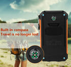20000mah Dual-USB Foreign Battery Charger Waterproof Solar Power Bank Outdoor