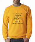 Long Sleeve T-shirt Unique I Have Black Belt Sarcasm Degree Smartass Bitch Ninja