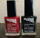 AVON Mosaic Effects crackle top coat BLACK or RED LAVA