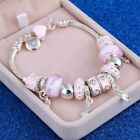 Crystal Charm Bracelets Silver Gold Bracelet Women Ladies Bead Christmas Gift