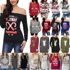 Christmas Ugly Sweater Women Hoodie Pullover Shirt Blouse Ladies XMAS Top Jumper
