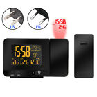 USB Digital Radio-Controlled Projection Alarm Clock Weather Station Display 2019
