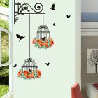 Animal Bird Cage Wall Sticker Art PVC Decal Home Decor DIY Mural Vinyl Removable