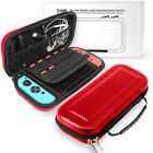Nintendo Switch Portable Bag Carrying Pouch Shell Hard Carbon Travel Fiber Case